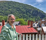 Bestselling author Kathleen Ernst at Harpers Ferry National Historic Park 75th Anniversary.