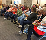 Crowd photo at Chloe Ellefson Mysteries program on 08 October 2019 Fox Cities Book Festival.