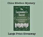 Chloe Ellefson Mystery Large Print Giveaway graphic.