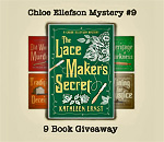 9 Lacemaker Mysteries Giveaway graphic.