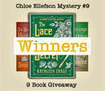 9 Lacemaker Mysteries Giveaway Winners graphic.