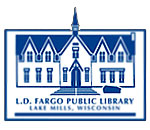 Logo of the L.D. Fargo Public Library in Lake Mills, Wisconsin.