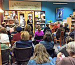Bestselling writer Kathleen Ernst talking about her Chloe Ellefson mystery series and signing her newest one, Mining For Justice, at Books & Company bookstore in Oconomowoc, Wisconsin, October 17, 2017.
