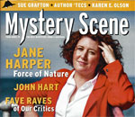 Partial front cover of Mystery Scene Magazine Issue 153.