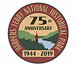 US National Park Service Harpers Ferry 75th Anniversary logo.