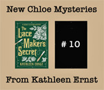 New Chloe Ellefson Mysteries coming 2018 & 2019 from Kathleen Ernst graphic.
