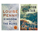 Covers of Louise Penny & William Kent Kreuger novels