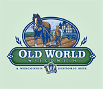 Old World Wisconsin horse-drawn plow logo.