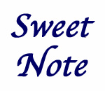 Sweet Note graphic by Dee Vee Productions.