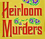 Partial front book cover of The Heirloom Murders, a Chloe Ellefson mystery by bestselling author Kathleen Ernst from Midnight Ink Books.
