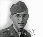 Photo of US Army Private David O. Meeker Jr in World War 2.