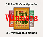 8 Chloe Ellefson Giveaway Winners graphic for Death on the Prairie.