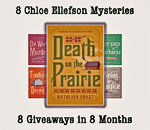 8 Chloe Ellefson Giveaway graphic for Death on the Prairie.
