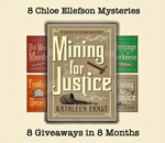 Chloe Ellefson Mining For Justice mystery giveaway graphic