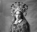 Norweigan bride photo by Solveig Lund in the Norske Folk Museum collection