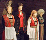 Photo of local folk costumes at the Hardanger Museum in Utne Norway taken by bestselling author Kathleen Ernst.