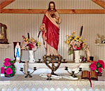 Wisconsin Belgian roadside chapel alter.