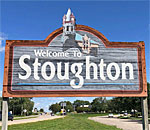 Welcome to Stoughton Wisconsin sign