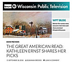 Screen capture of Wisconsin Public Television blog post by bestselling author Kathleen Ernst.