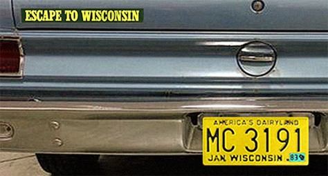 Left rear end of a 1969 American Motors Corporation (AMC) Rambler sedan. Photo by GR Auto Gallery enhanced by Scott Meeker.